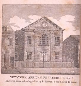 African Free School, engraving