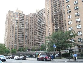 Shot of Ebbets Apartments, formerly Ebbets Field