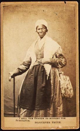 Three-quarter length portrait of Sojourner Truth