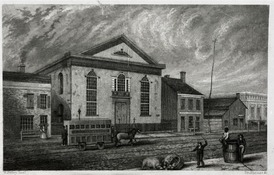 St. Philip's Episcopal Church. John F.E. Prud'homme engraving after William Bayley image.