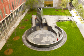 A current view of the African Burial Ground Memorial