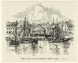 New York slave market about 1730