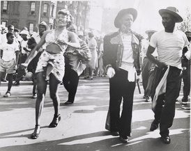 Historic view of West Indian Day Parade